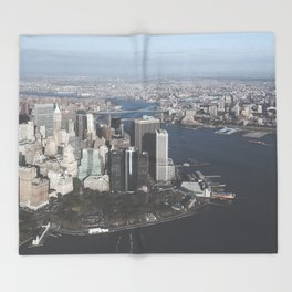 NYC Downtown Aerial Throw Blanket