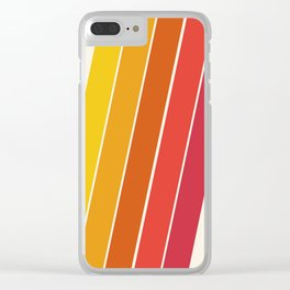 Cool Beans - 70's retro throwback art stripes motif decor hipster Clear iPhone Case