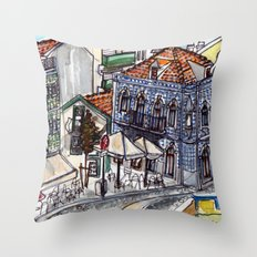 Buarcos, Portugal Throw Pillow