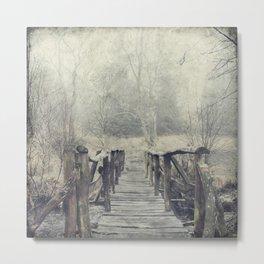 a Bridge to Cross Metal Print