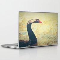 black swan Laptop & iPad Skins featuring Black Swan by Joëlle