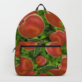 Peaches with texture Backpack
