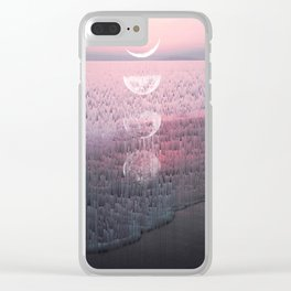 Glitches at Sunset Clear iPhone Case