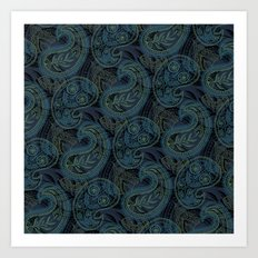Paisley and Undines Art Print