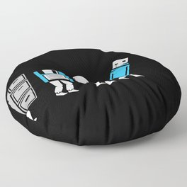 Cloud Computing Data Storage Evolution Progression Floor Pillow