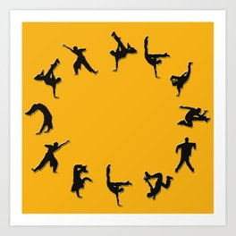 B boy Dance Clock Art Print