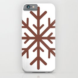 Snowflake (Brown & White) iPhone Case