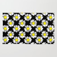 daisies Area & Throw Rugs featuring Daisies by Ornaart