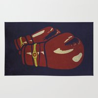 boxing Area & Throw Rugs featuring Power Boxing by Lucas Scialabba :: Palitosci