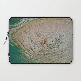 Gold and White Rings Laptop Sleeve