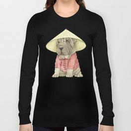 Shar Pei on the Great Wall Long Sleeve T-shirt