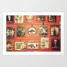 Vintage Signs Art Print
