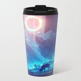 Stellar collision Metal Travel Mug