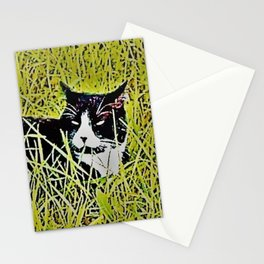 Cat by Mandy Groves Stationery Cards