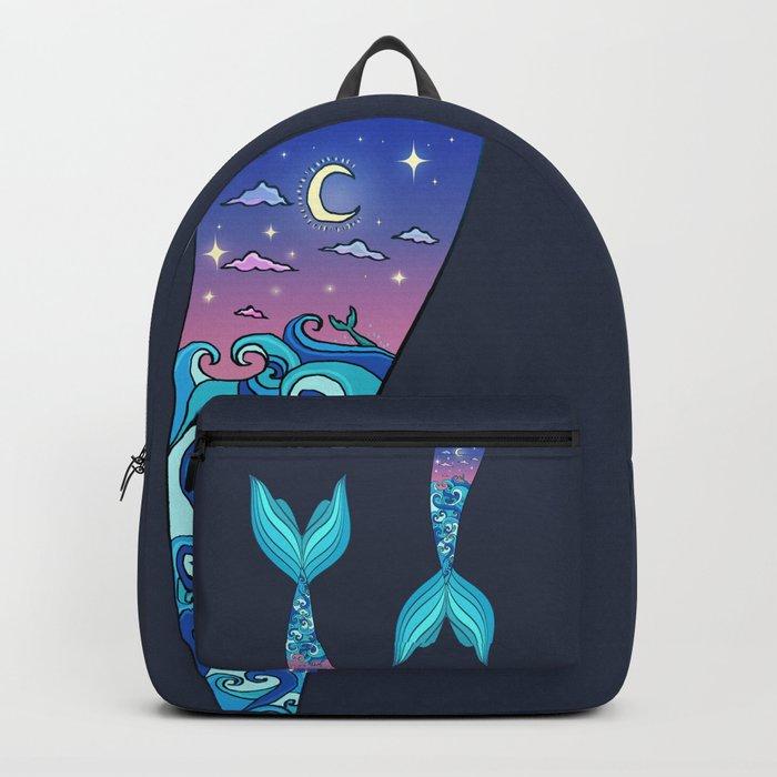 mermaid tail *ocean* Backpack