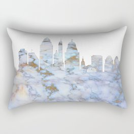Cincinnati Ohio Skyline Rectangular Pillow