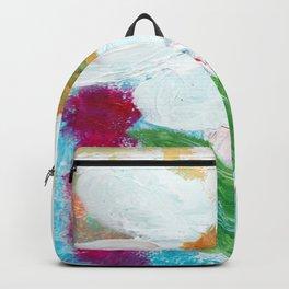 White Flower Backpack