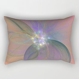 Fairy Blossom Fractal Rectangular Pillow