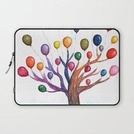 Balloon Tree Watercolor Laptop Sleeve