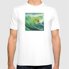 Costa Rica Surf. MEDIUM Mens Fitted Tee White