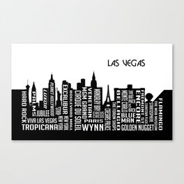 Skyline Las Vegas Canvas Print