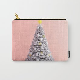 Christmas Background on Pink as a Festive Abstract Carry-All Pouch