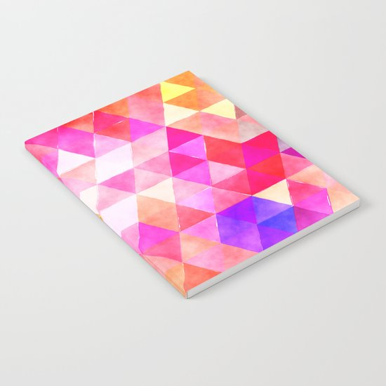 Vibrant Triangles Pattern 03 Notebook