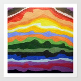 Mini Mountain Stripes Art Print
