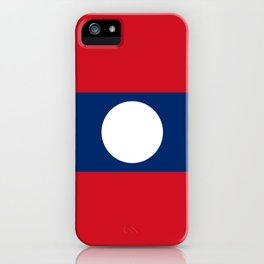laos country flag iPhone Case