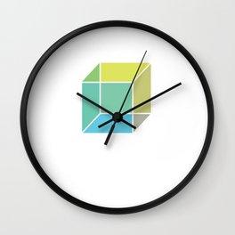 Isometric Form 2d Cube Geometric Shape Geometry Math Teacher Wall Clock