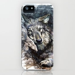 Wolf Wild and Free iPhone Case