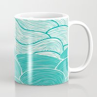 jazzberry Mugs featuring The Calm and Stormy Seas by Pom Graphic Design