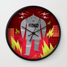 Robo! Destroy! Wall Clock