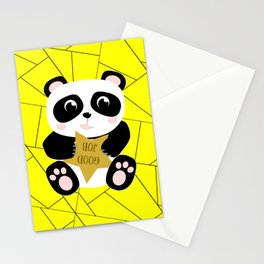 Gold Star Panda Stationery Cards