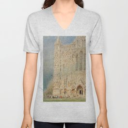 Salisbury Cathedral, English Landscape by Albert Goodwin Unisex V-Neck