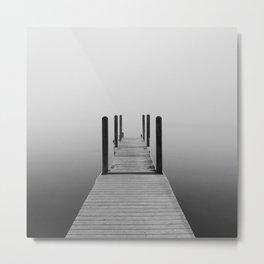 Fog on Muskegon Lake | Muskegon, MI Metal Print
