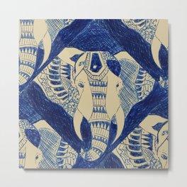 Elephant Doodle #1 Metal Print
