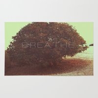 breathe Area & Throw Rugs featuring BREATHE by sincerelykarissa