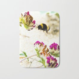 the flight of bumble bee on the dunes I Bath Mat