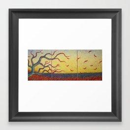 Shedding Leaves Framed Art Print