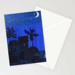 night landscape Stationery Cards