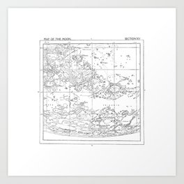 Map of the Moon (set 2/3) Art Print