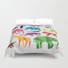 Paper Animals Duvet Cover