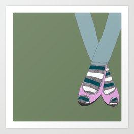 Socks and shoes Art Print