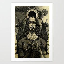Louder than Love (Black & White) Art Print