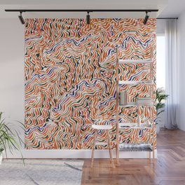 red topography Wall Mural
