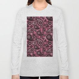 Blush Pink Paisley Pattern Long Sleeve T-shirt