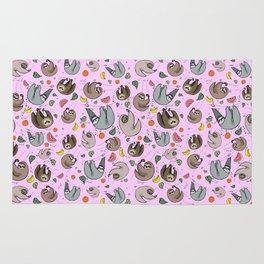 Cute Sloths Rug