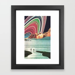 Saturn Strobe Framed Art Print