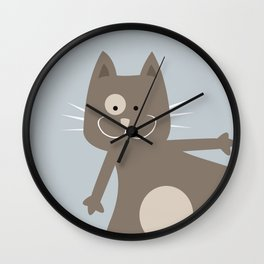Fat Cat Wall Clock